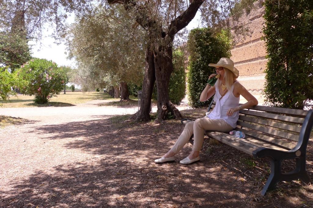 Hiding from 39 degree heat in Italy