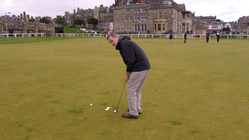 Putting at the home of golf