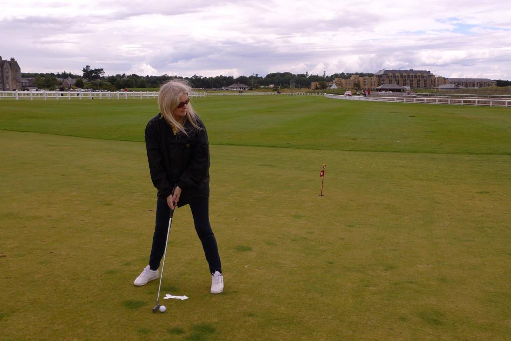 Tammy playing golf