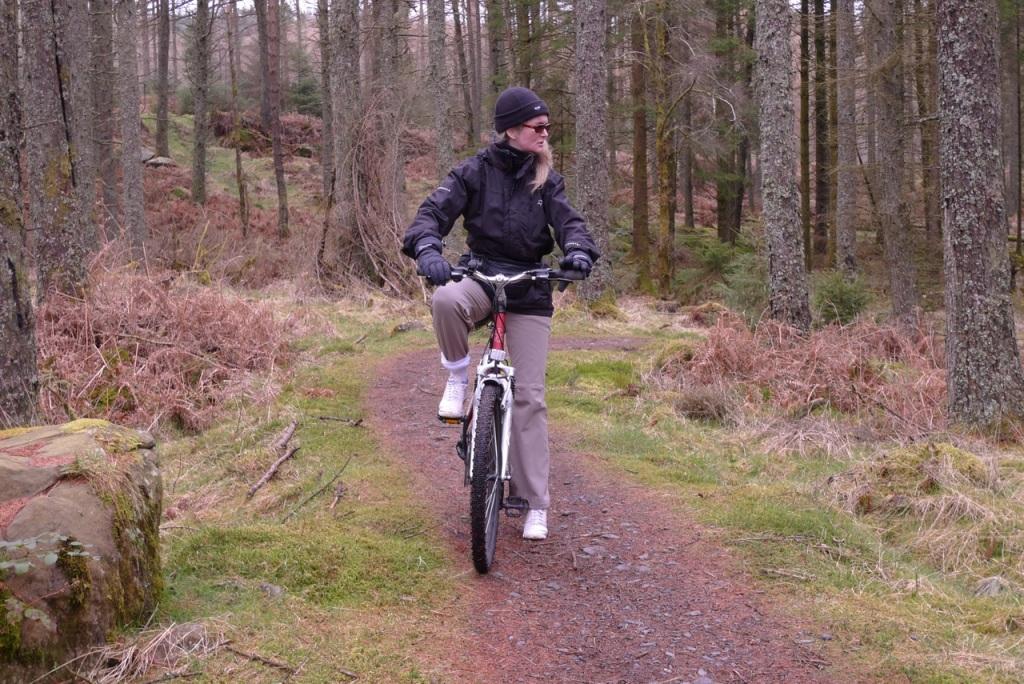 Tammy on bike ride