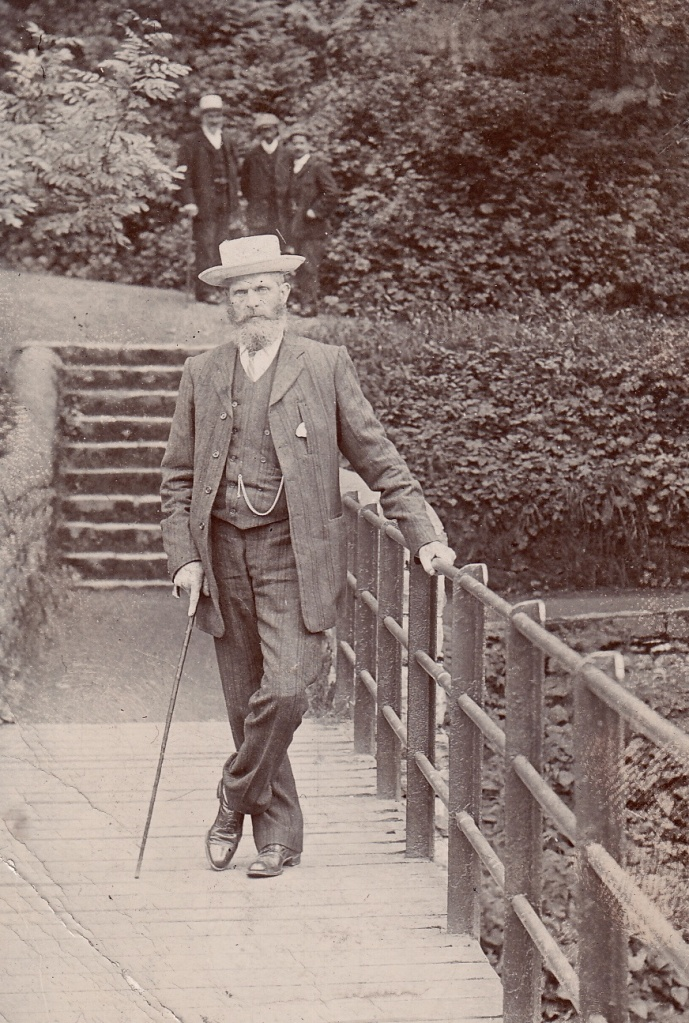Joseph Watson on the bridge at Gilsland