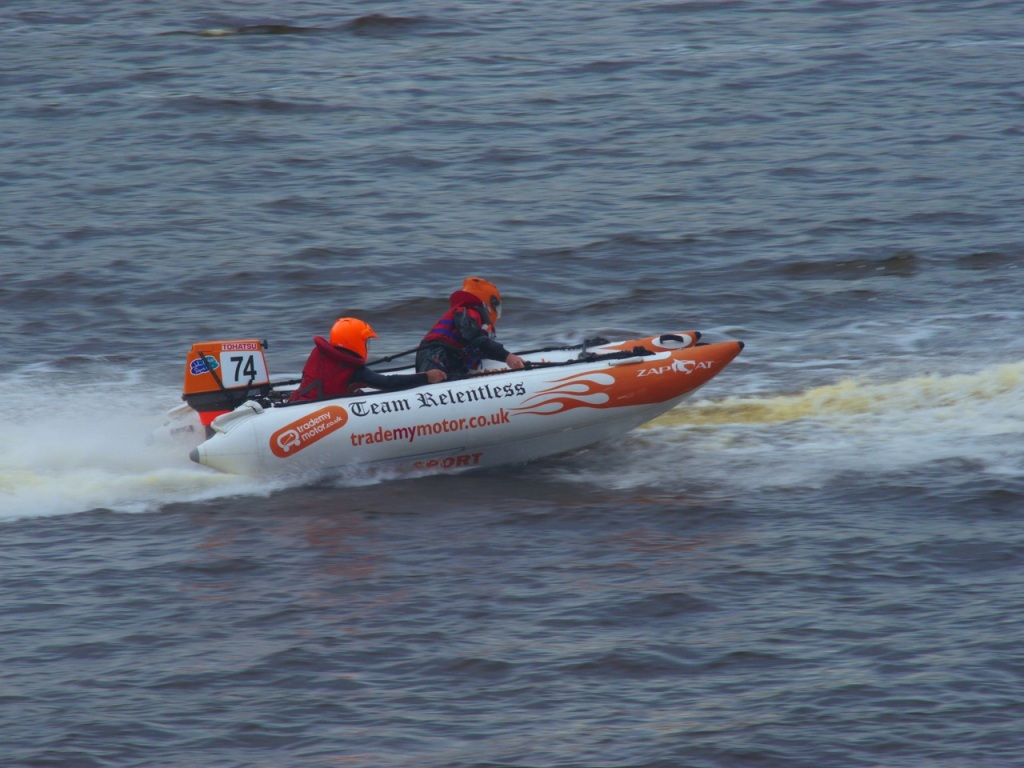 Power boats on Newcastle River Tyne