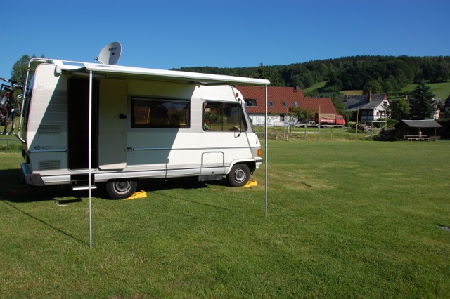 Hymer van in Germany