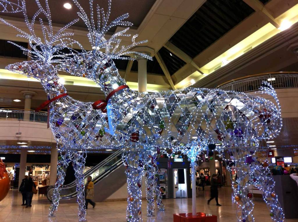Christmas decorations at Metro Centre