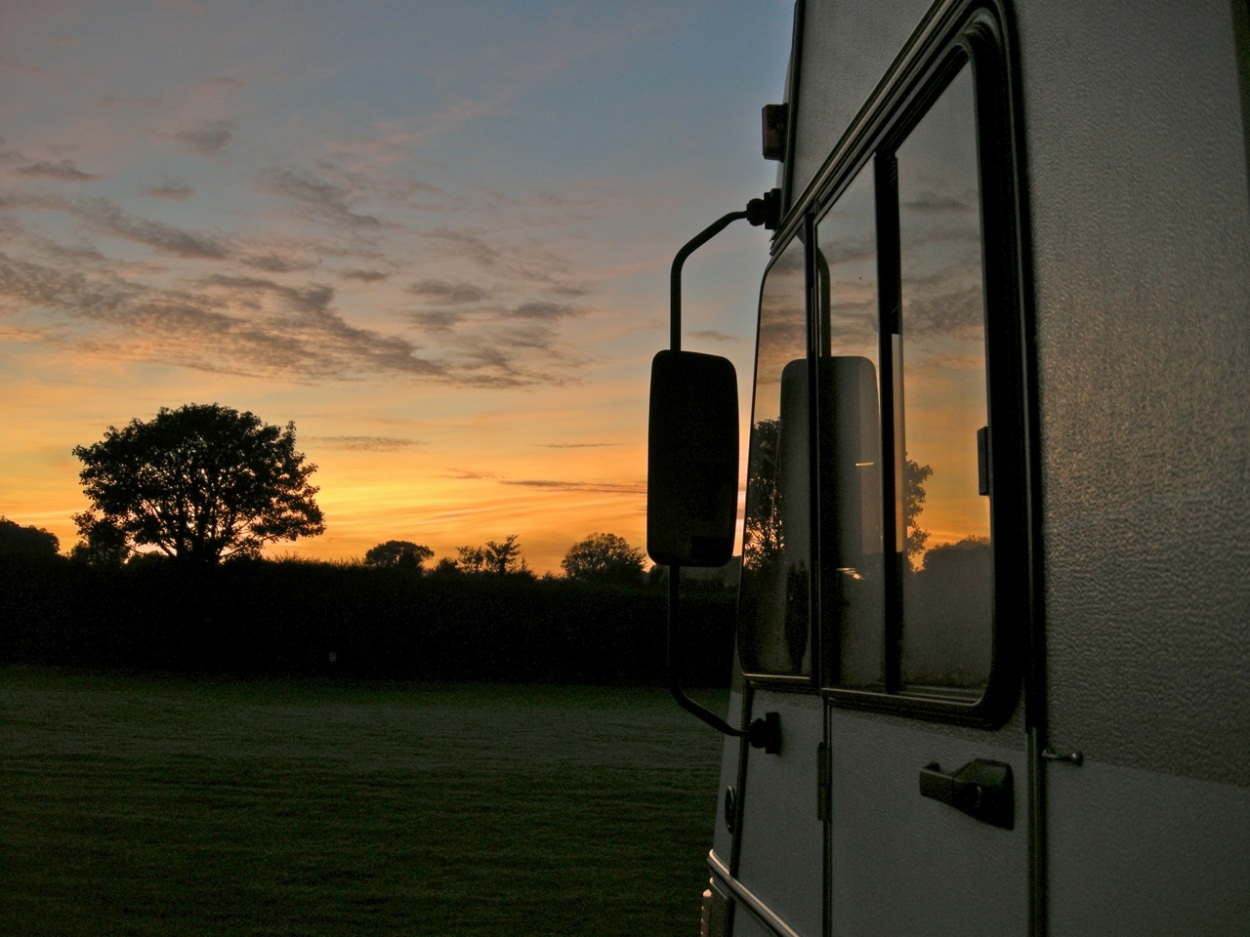 RV at twilight