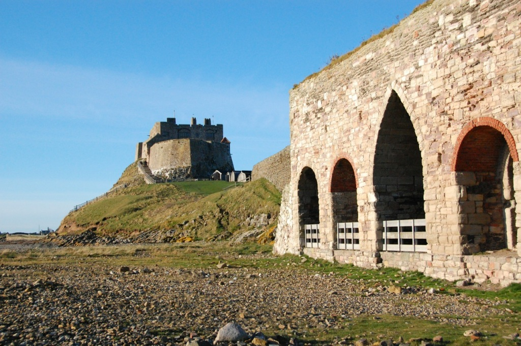 Lime kilns and Lindisfarne Castle