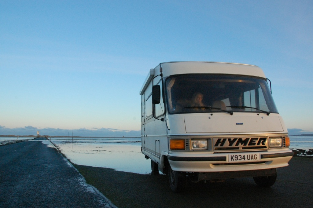 Camper van on Holy Island