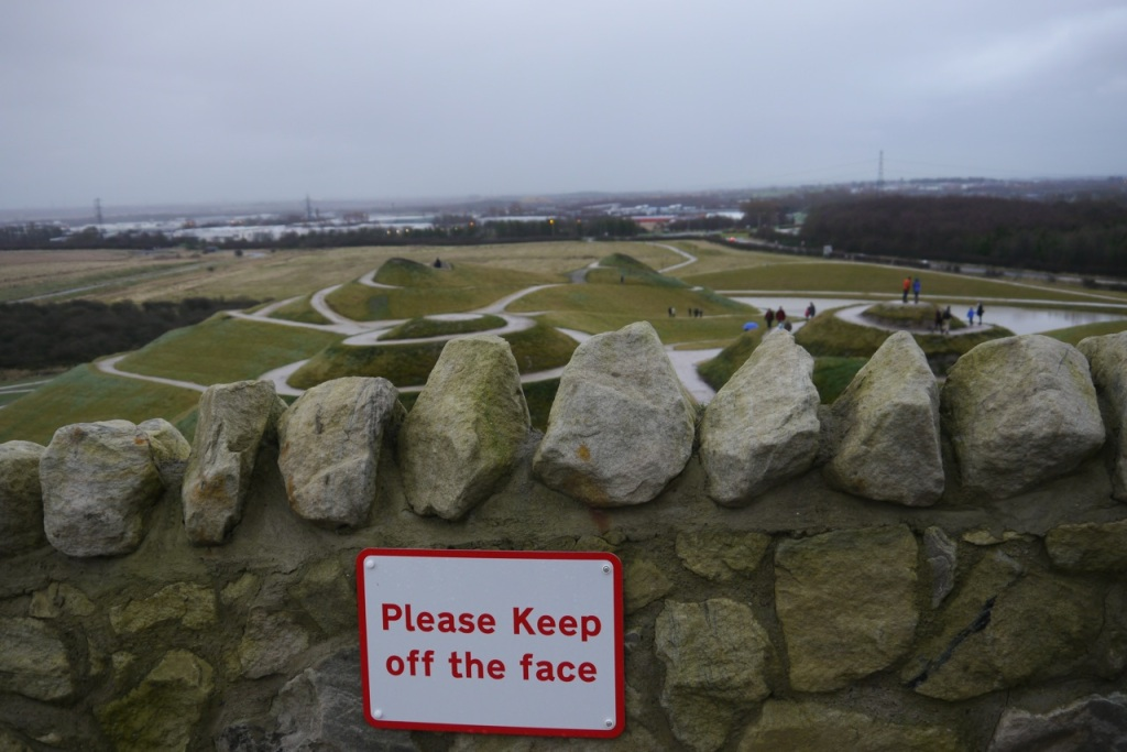Northumberlandia - don't step on the face!