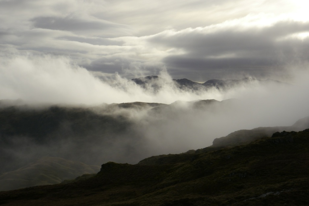 Blea Rigg in clouds
