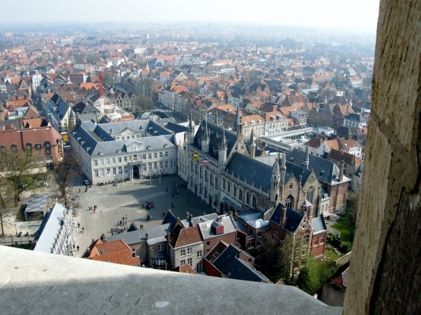 View across Bruges' roof tops