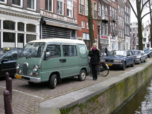 Amsterdam - this camper's even smaller than ours!