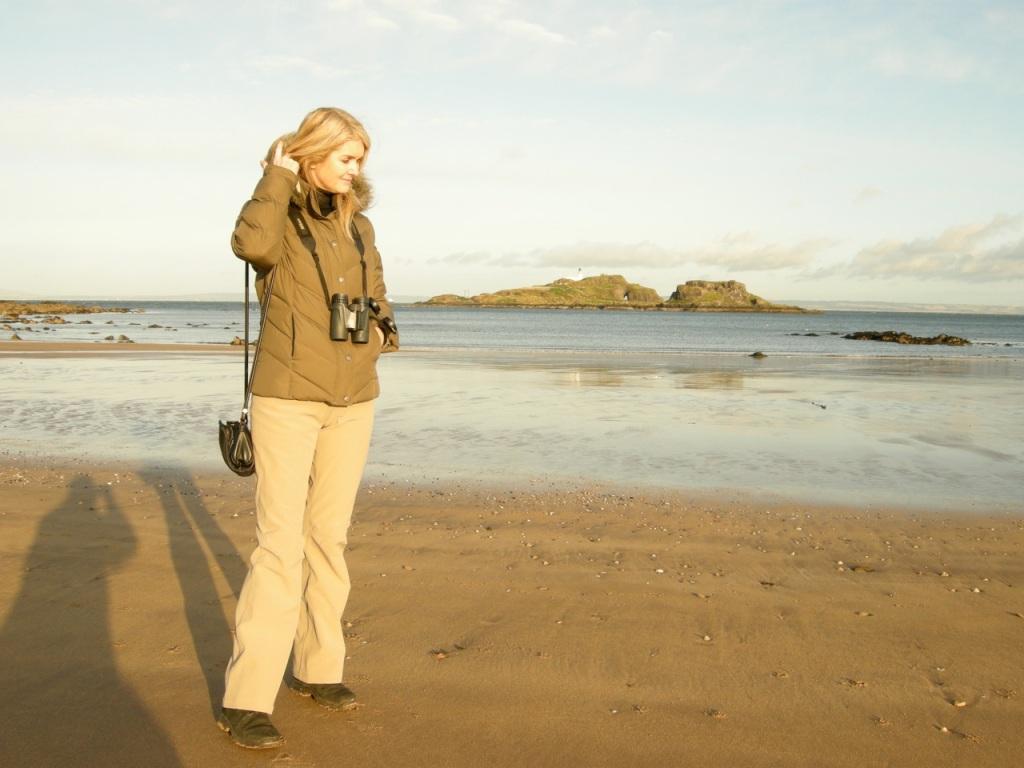 Tammy at Yellowcraig beach