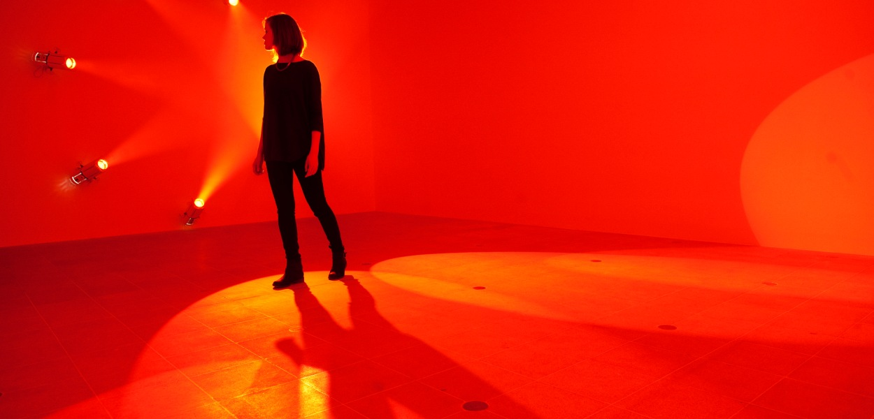 Light Show at Hayward Gallery, London. Photo by Linda Nylind