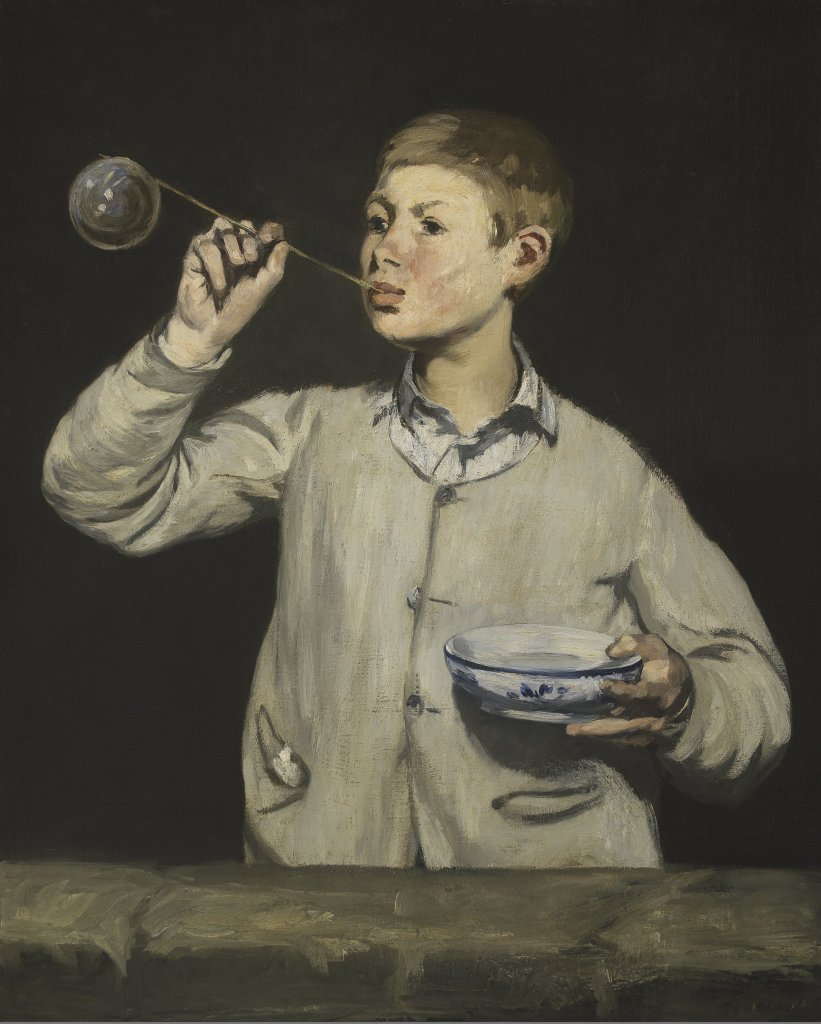 Manet's Boy with Bubbles