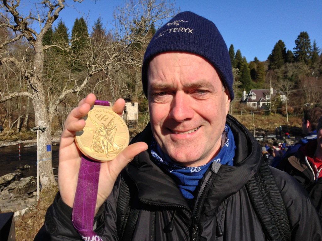 Tony with gold Olympic medal