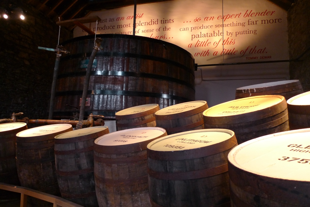 Dewar whisky warehouse