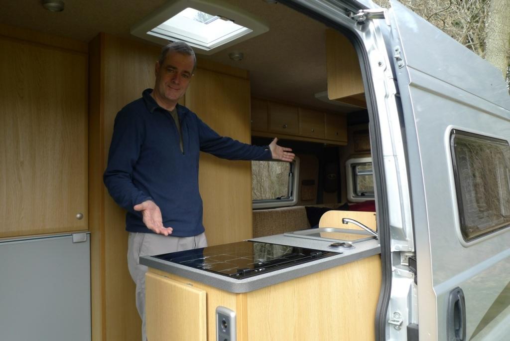 Tony in camper van