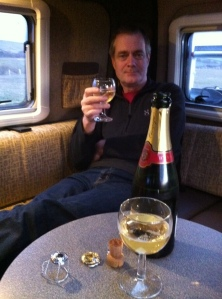 Champagne in the Vantage Sol camper van