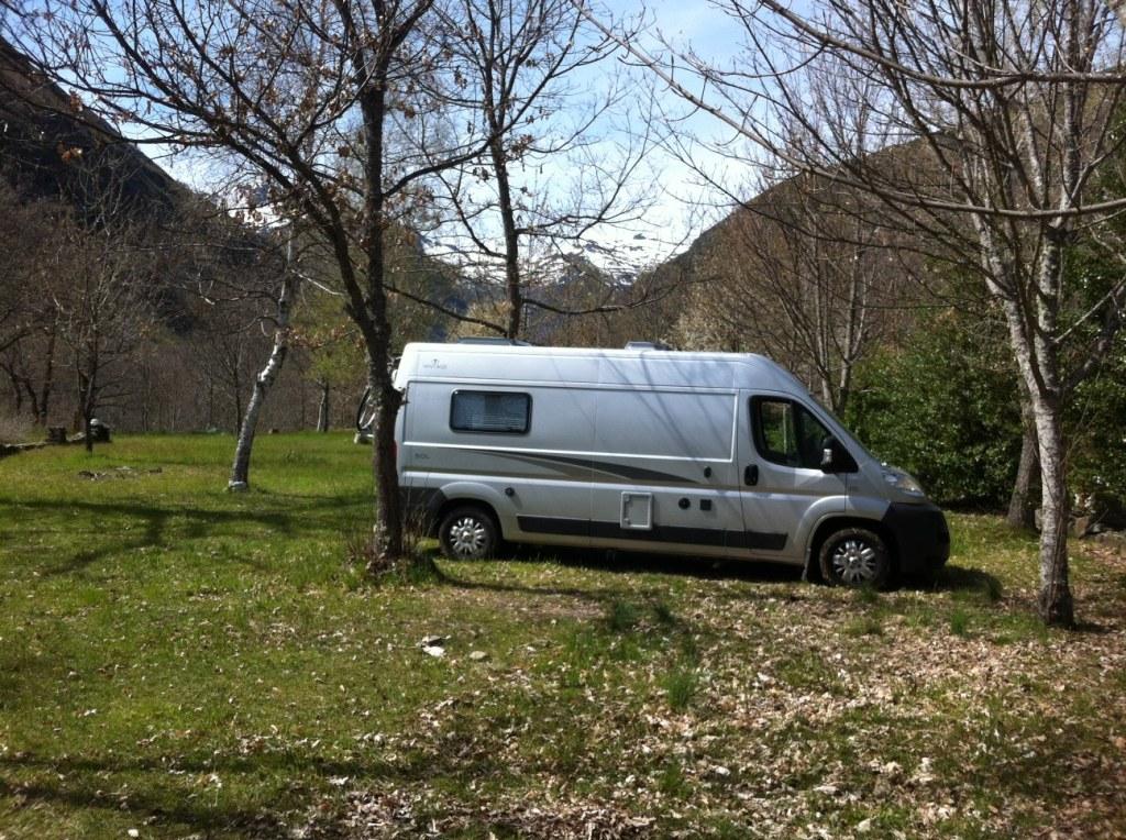 Camper van on camp site