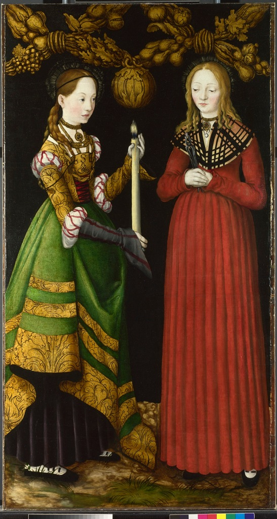 Saints Genevieve and Apollonia c/o National Gallery
