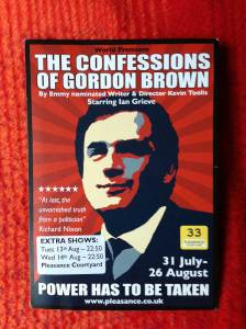 The Confessions of Gordon Brown flyer
