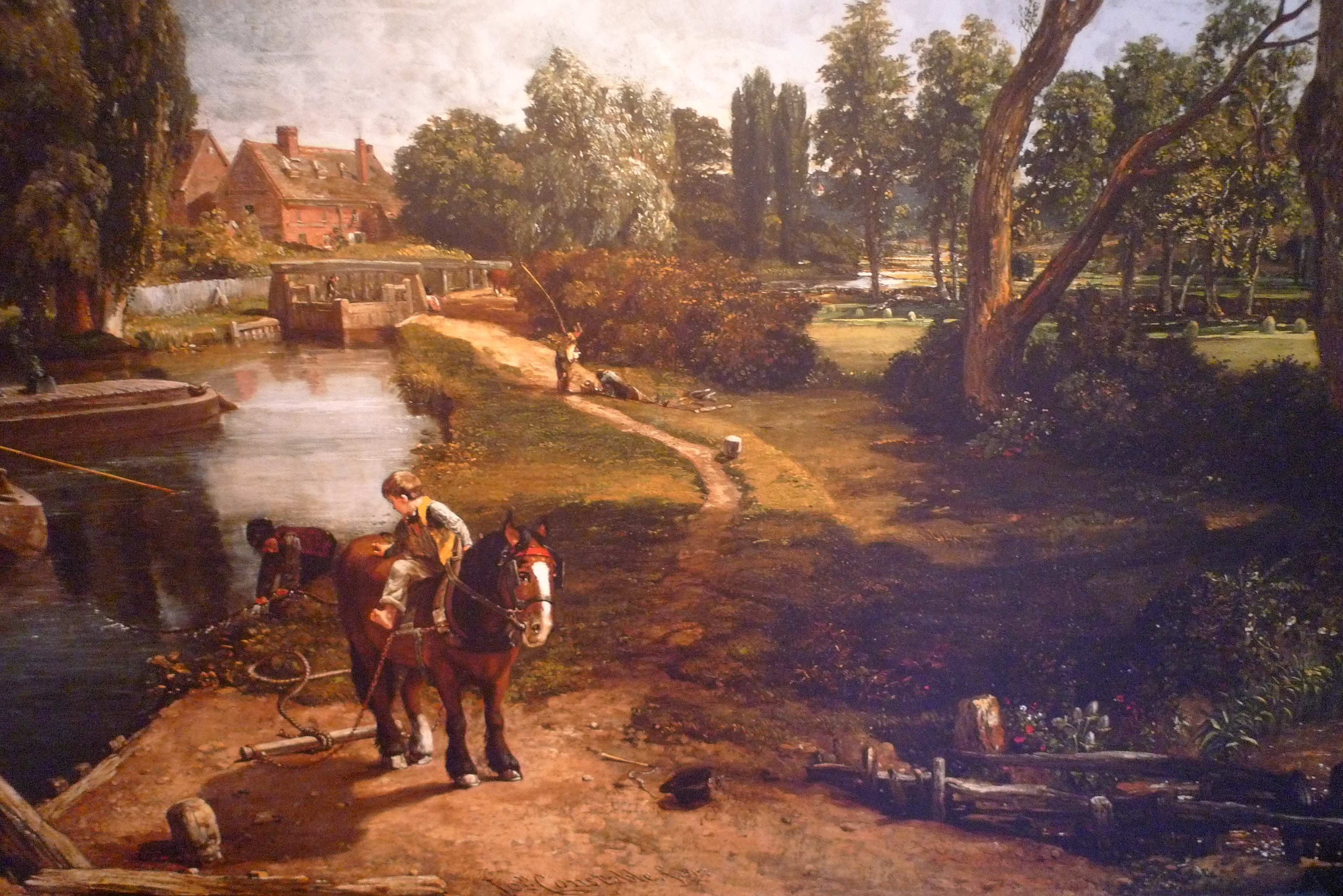 Flatford mill constable s great english landscape for John s painting