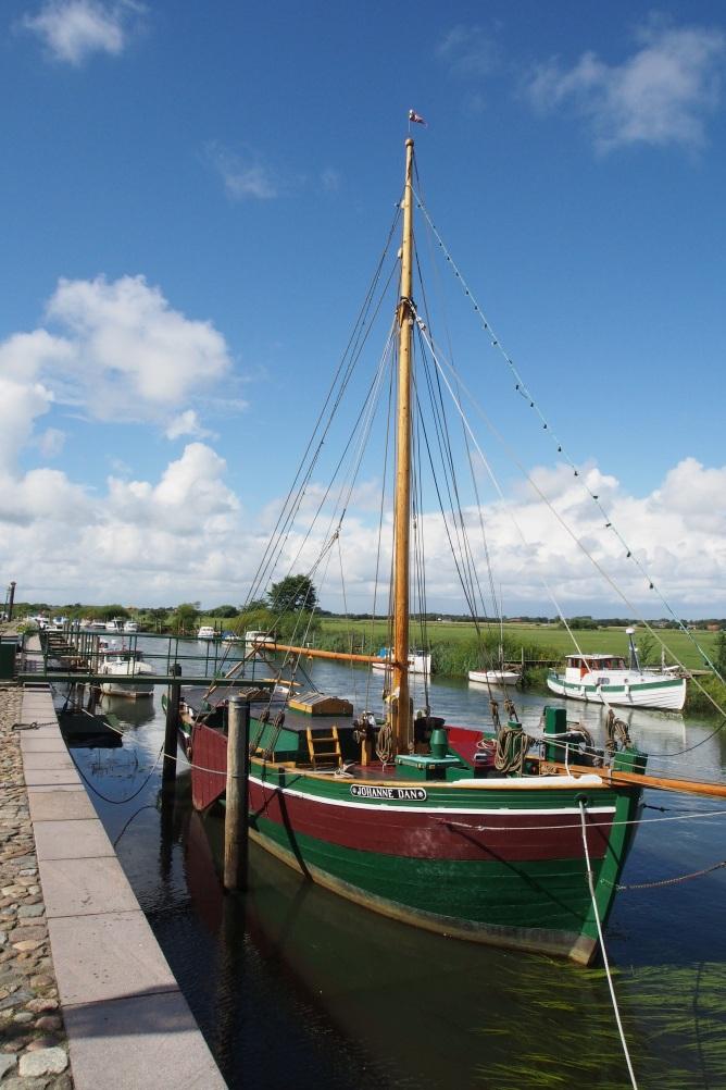 Boat on Ribe riverfront