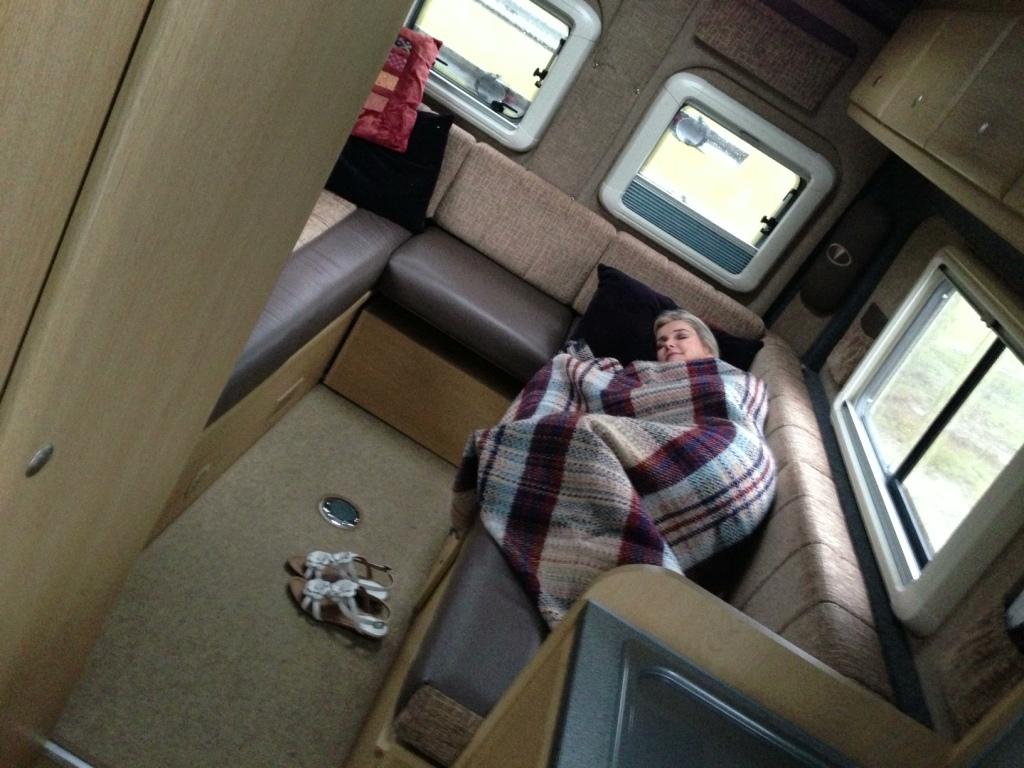 Tammy in Camper van @ Tour of Britain