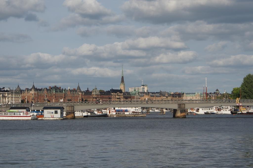 Stockholm harbour view