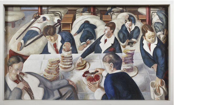 TEA IN THE HOSPITAL WARD by Stanley Spencer