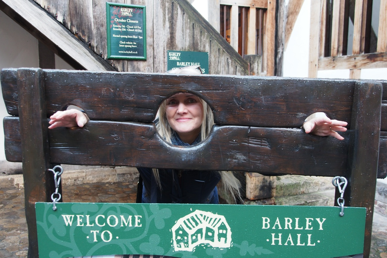 Tammy in the stocks in York