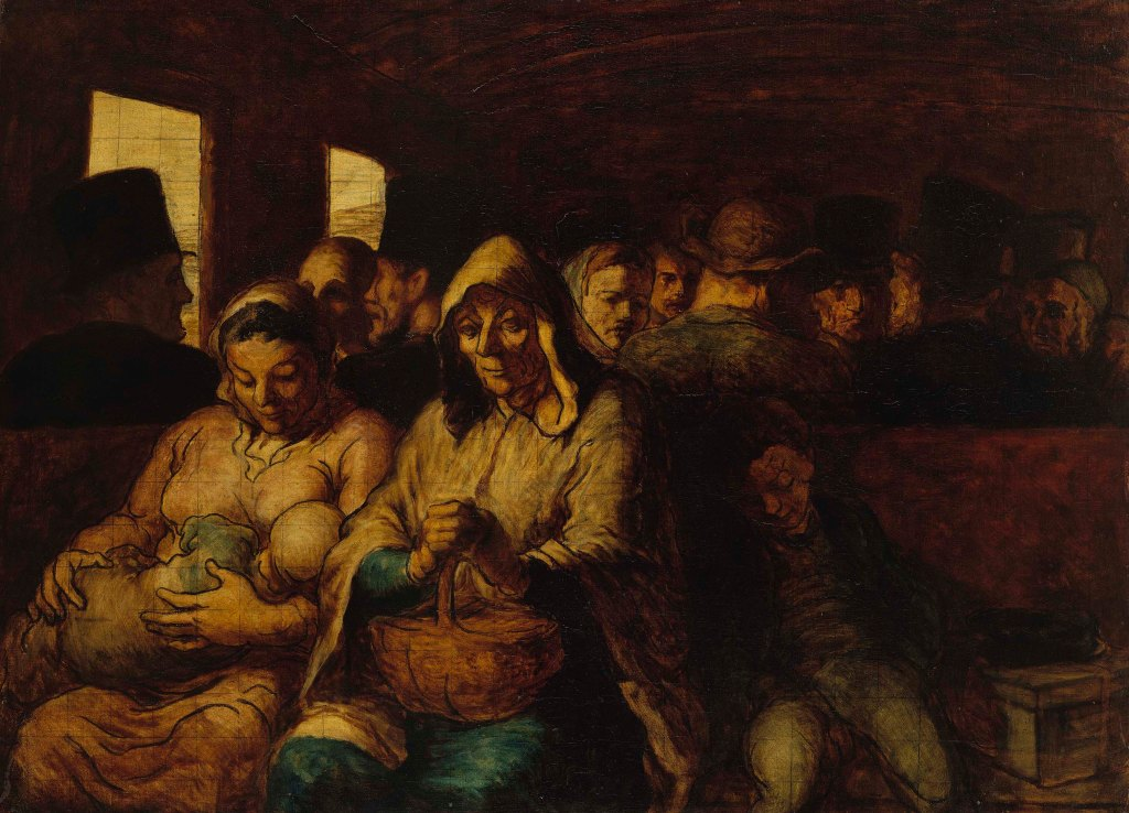 onoré Daumier <br />The Third Class Railway Carriage, 1862-64 <br />Oil on canvas <br />65.4 x 90.2 cm <br />The Metropolitan Museum of Art, New York <br />   Photo © The Metropolitan Museum of Art/Art Resource/Scala, Florence <br />