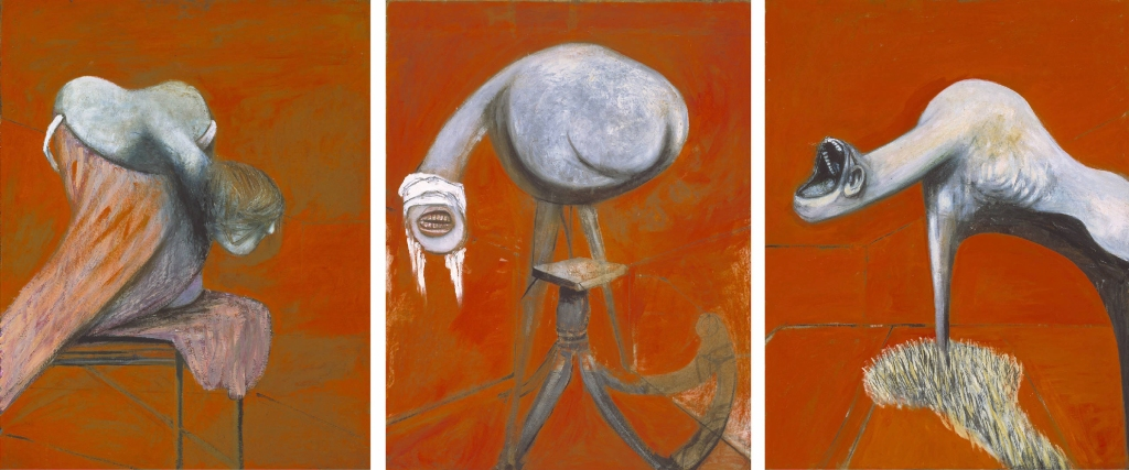 Francis Bacon Three Studies for Figures at the Base of a Crucifixion circa 1944 (Download high resolution image 2.12 MB)