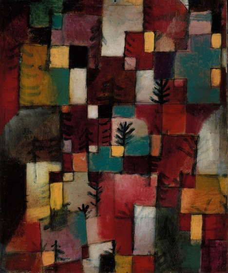 Paul Klee Redgreen and Violet-Yellow Rhythms 1920