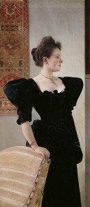 Portrait of a Lady in Black, about 1894