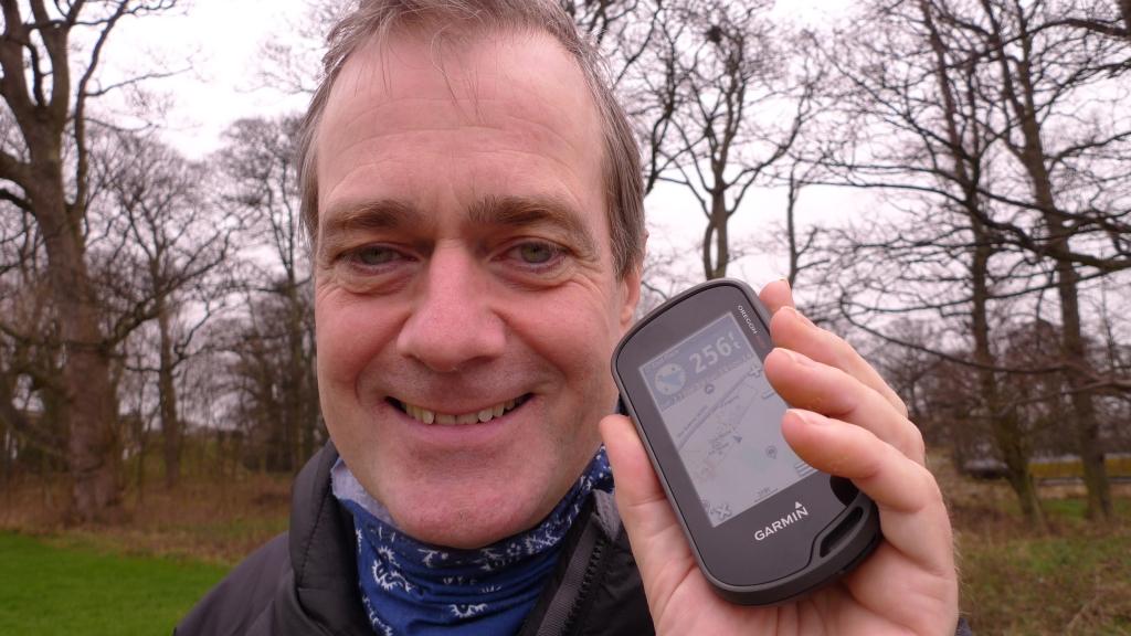 Tony with Garmin GPS