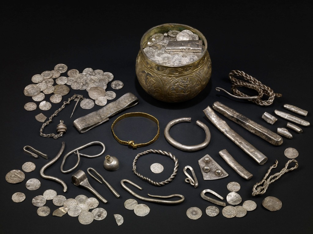 The Vale of York hoard, AD 900s. North Yorkshire, England. Silver-gilt, gold, silver.  British Museum, London/Yorkshire Museum, York. Copyright of he Trustees of the British Museum