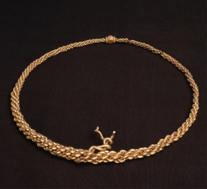 Neck-ring, 10th century. Kalmergarden, Tisso, Zealand, Denmark. Gold. Copyright of The National Museum of Denmark