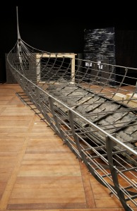 The Longship (Roskilde 6). The largest Viking ship ever discovered. The thirty-seven meter long warship was built in southern Norway around 1025, and deliberately sunk in Denmark in the mid-11th century. Copyright of the National Museum of Denmark.