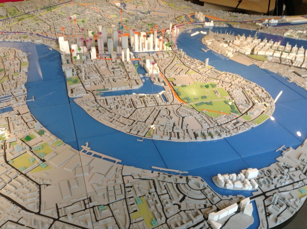 Model of London skyline