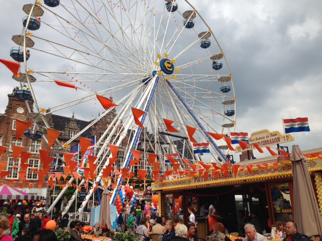 King's Day in Haarlem, Holland