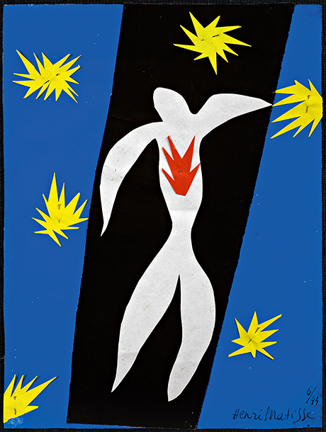 Matisse's The Fall of Icarus (1943). Photograph: Alberto Ricci/© Succession Henri Matisse/DACS 2014