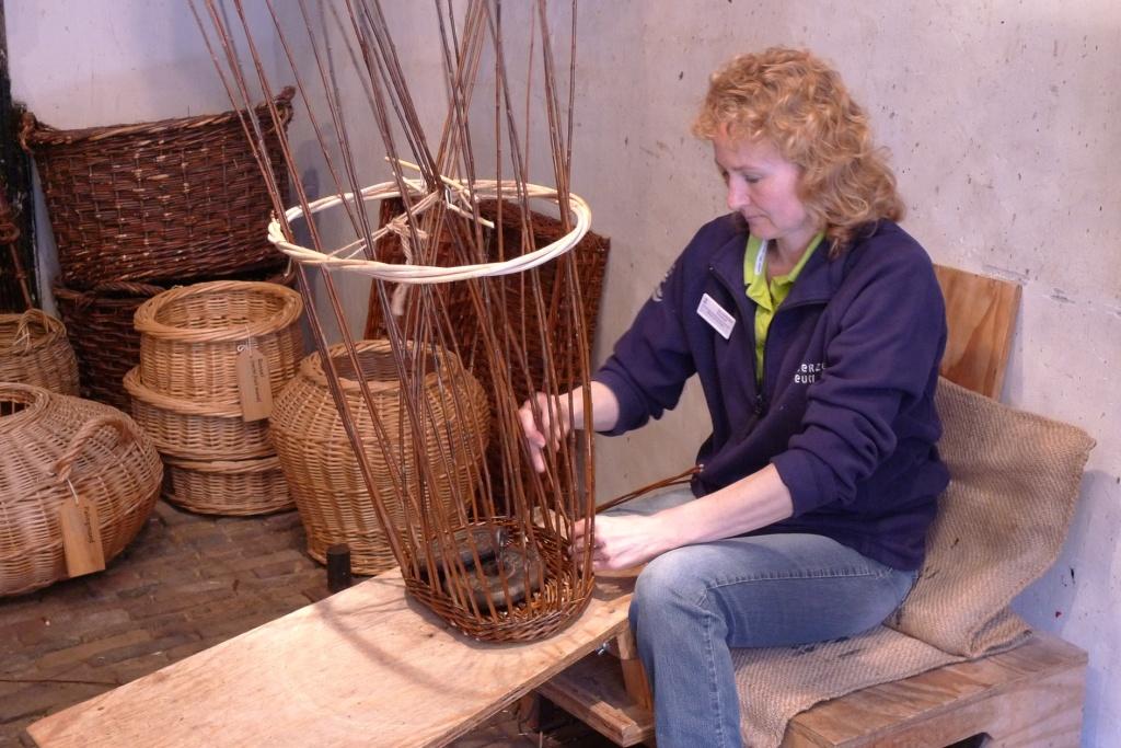 Basket weaving at Zuiderzee Museum
