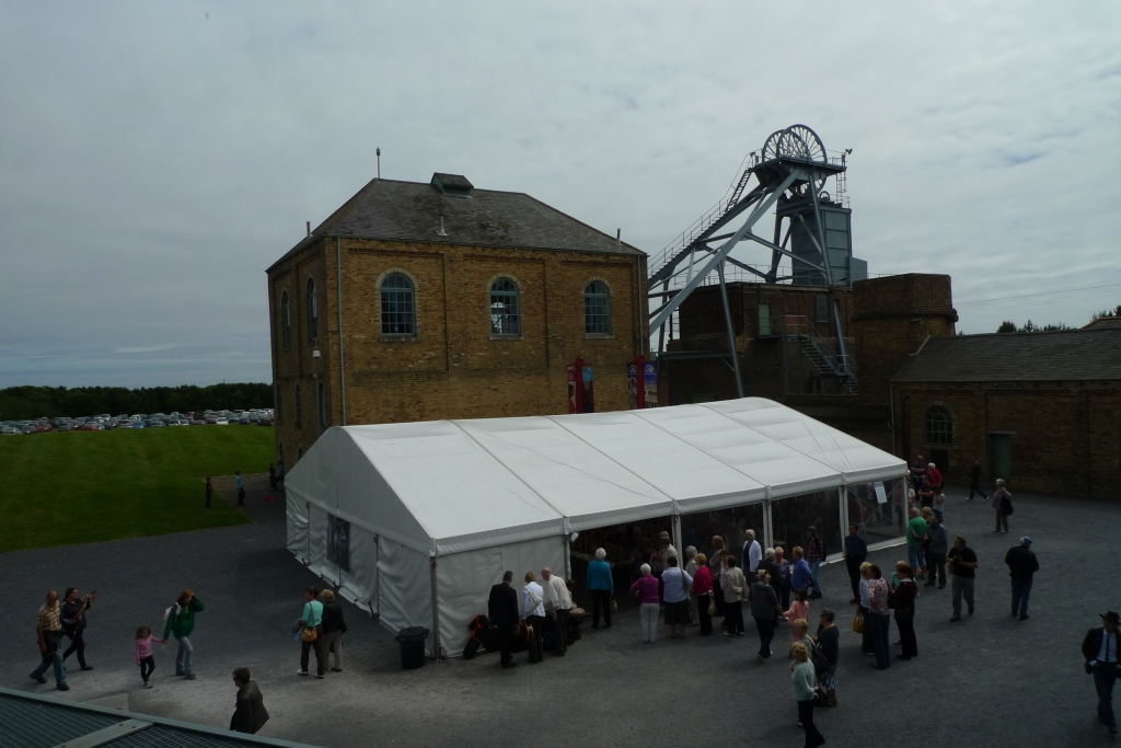 Pit Yard marquee at Woodhorn Colliery Museum
