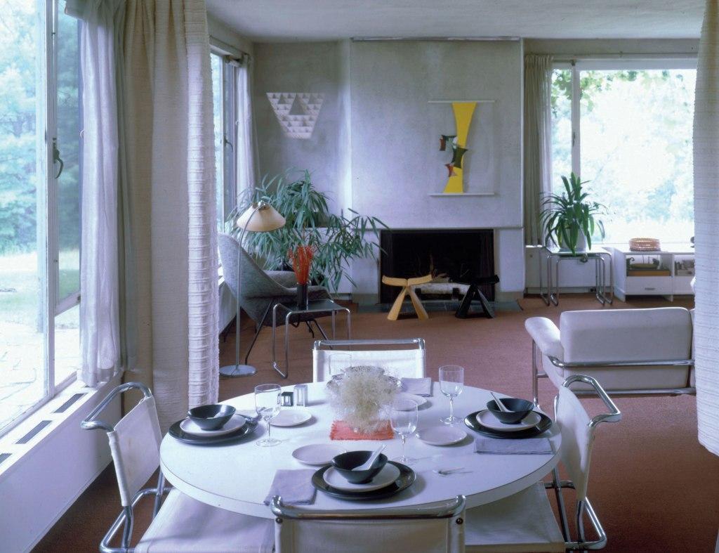 Gropius House white dining room