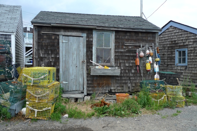 Lobster fishing shack