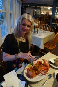 Stuffed lobster in Maine
