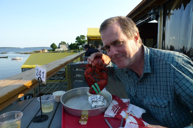 Tony with lobster