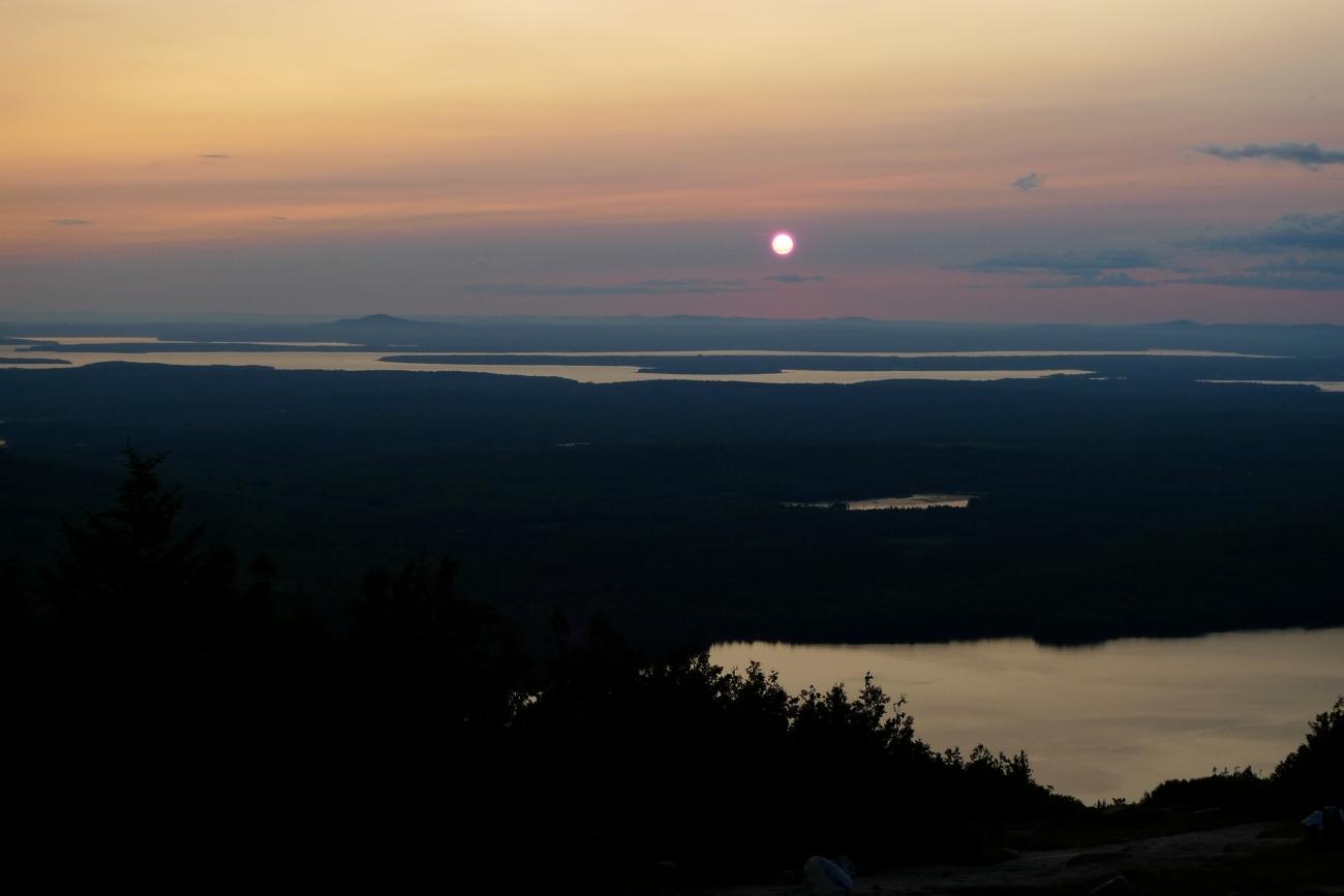 Acadia sunset Cadillac Mountain