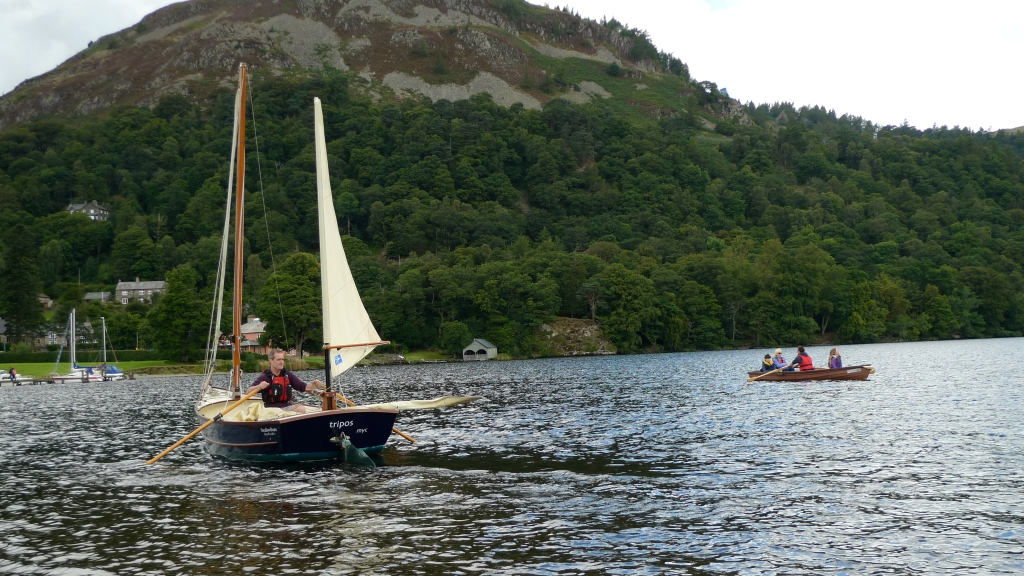 Tony rowing on Ullswater